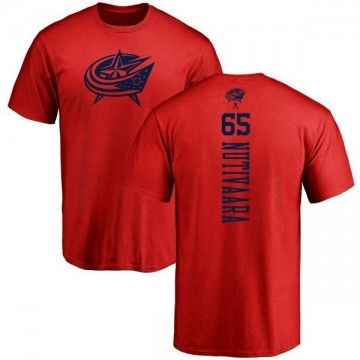 Men's Markus Nutivaara Columbus Blue Jackets One Color Backer T-Shirt - Red