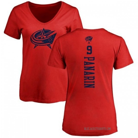 sneakers for cheap 678e1 5288c Women's Artemi Panarin Columbus Blue Jackets One Color Backer T-Shirt - Red